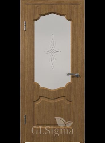 Дверь остекленная SIGMA 92 ольха голд