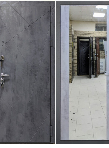 Дверь входная «ПРЕЗИДЕНТ» ЗЕРКАЛО, ЮДМ