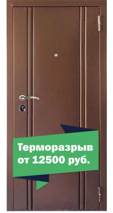 Двери FilDoors Модель Сити 102 метал-металл, толщина металла с наружи и внутри 1,2 мм. терморазрыв-перфорация